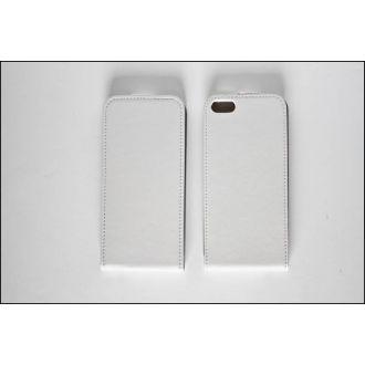 Étui en cuir - Verticale - iPhone 5 - Blanc