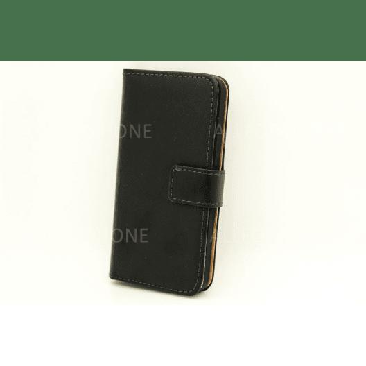 Étui en cuir - Horizontal - iPhone 5 5S SE - Noir