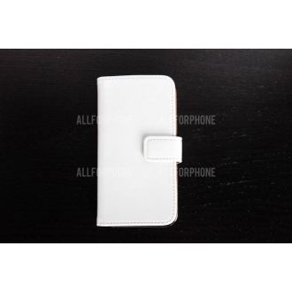 Étui en simili cuir - iPhone 5 - Horizontal - Blanc