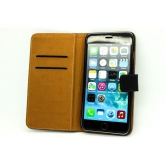 Étui en simili cuir - iPhone 6+ - Horizontal - Noir