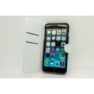 Étui en simili cuir - iPhone 6+ - Horizontal - Blanc