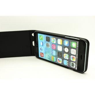 Étui en simili cuir - iPhone 6+ - Vertical - Noir