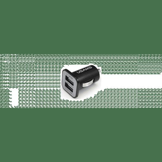 Chargeur voiture double USB - iPhone 6 - 3.1 A + 1 A - Noir