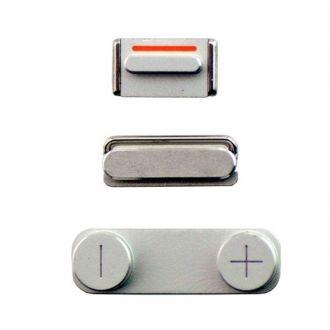Kit  boutons - Power, vibreur et volume - iPhone 5 - Argenté