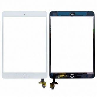 Tactile iPad mini + connecteur IC - Blanc