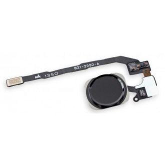 Bouton Home lecteur d'empreinte + nappe - iPhone 5S - Noir