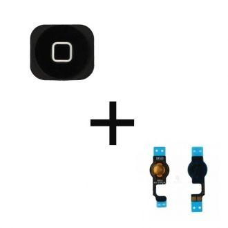 Bouton Home + flex - Noir - iPhone 5