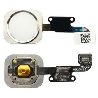 Bouton Home lecteur d'empreinte + nappe - iPhone 6/6+ - Blanc