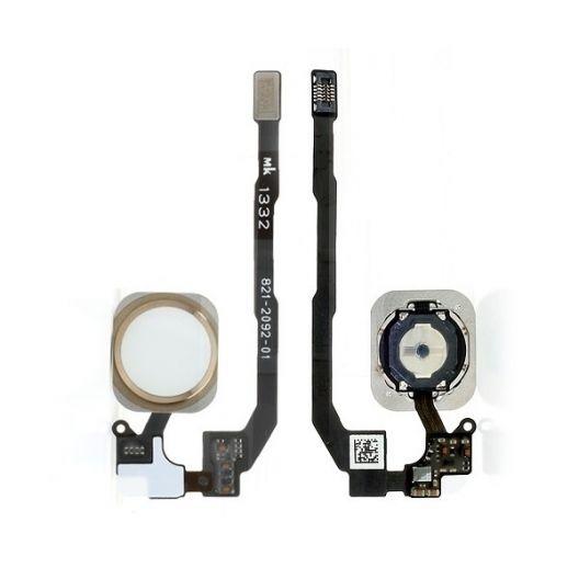 Bouton Home lecteur d'empreinte + nappe - iPhone 5S - Gold