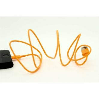 Cable USB - iPhone 5/5S/5C/SE - Orange