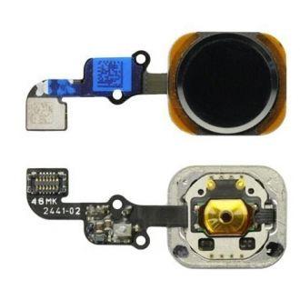 Bouton Home lecteur d'empreinte + nappe - iPhone 6/6+ - Noir