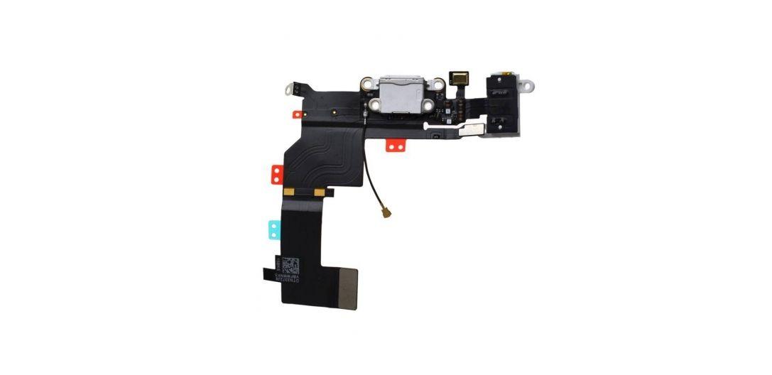 Dock interne complet - Charge, antenne réseau, jack et micro - iPhone 5S - Blanc