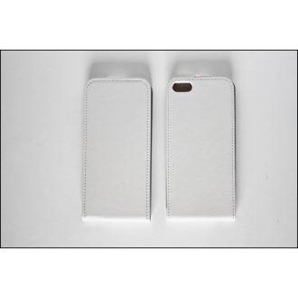 Étui en cuir - Verticale - iPhone SE - Blanc