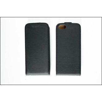 Étui en cuir - Verticale - iPhone SE - Noir