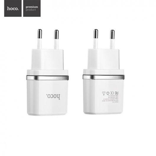 Chargeur secteur universel HOCO C12 double USB - 2.4 A