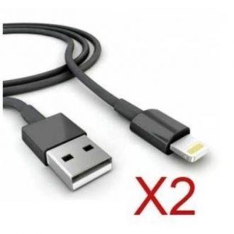 2X Cables USB iPhone 8 & 8+ - Noir