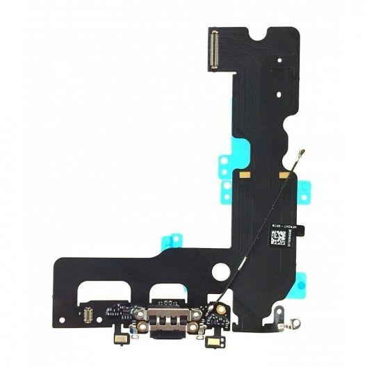 Connecteur de charge + Micro + Antenne GSM iPhone 7 Plus noir