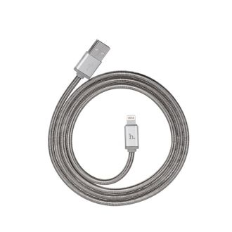 Câble lightning en métal HOCO U5 120cm - GREY - Apple iPhone
