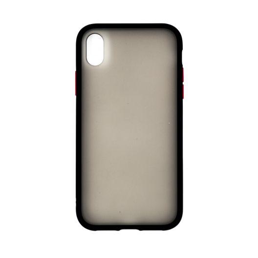 Coque iPhone XR - Fumée matte & Noir
