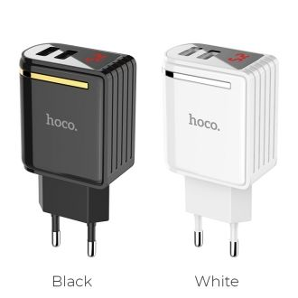Chargeur maison HOCO C39A 12W 2.4A 2USB - Blanc