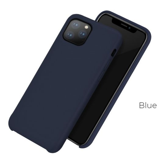 Coque HOCO Pure Series iPhone 11 Silicone - BLEU
