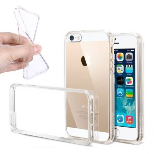 Coque ultra fine - SILICONE - iPhone SE - Transparent