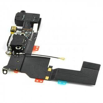 Dock interne complet - Charge, antenne réseau, jack et micro - iPhone 5S - Noir